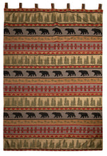Load image into Gallery viewer, Montana Bear Rustic Curtain Panels (Set of 2)