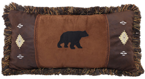 Bear and Diamonds Pillow