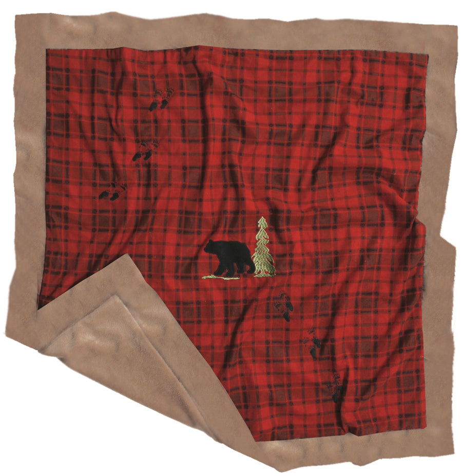 Red Plaid Bear Blanket