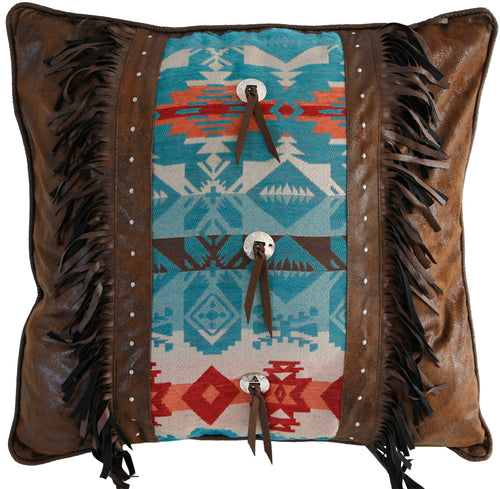 Turquoise Chamarro Euro Pillow Cover