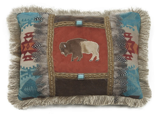 Feather Buffalo Pillow