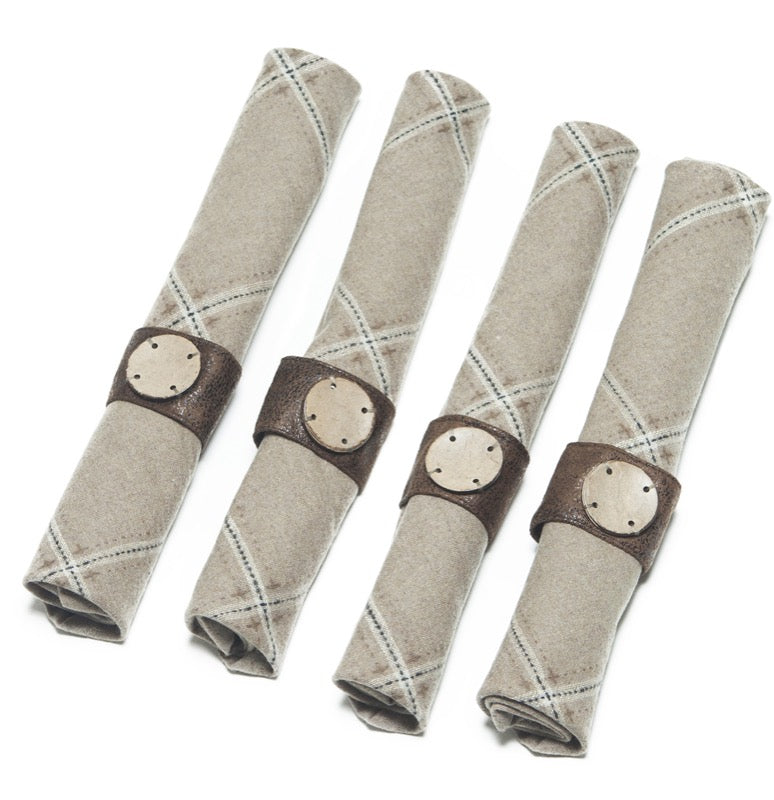 Bamboo Button Napkin Ring (set of 4)