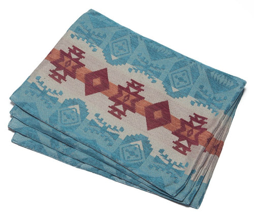 Turquoise Chamarro Placemats (set of 4)