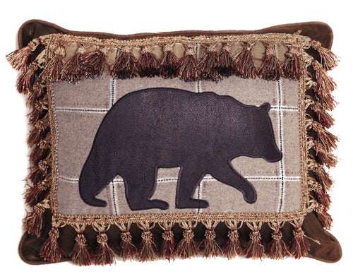 Bear with Tassel Fringe pillow
