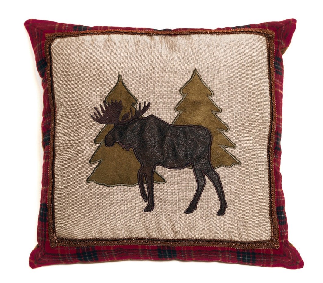 Moose and Trees Pillow