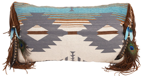 Badlands Fringe Feather Pillow