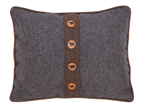 Rugged Earth Bear Throw Pillow