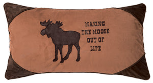 Making the Moose Out of Life Rustic Cabin Pillow 14x26