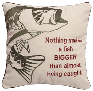 A Bigger Fish Throw Pillow