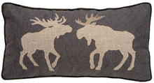 Load image into Gallery viewer, Two Moose Throw Pillow