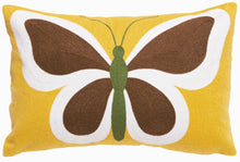 Load image into Gallery viewer, Butterfly on Yellow Throw Pillow
