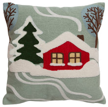 Load image into Gallery viewer, Snowy Cabin Throw Pillow