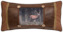 Load image into Gallery viewer, Framed Forest with Buck Throw Pillow