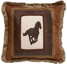 Load image into Gallery viewer, Framed Horse Throw Pillow