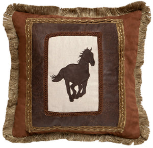 Framed Horse Throw Pillow