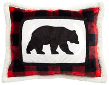 Load image into Gallery viewer, Lumberjack Bear Throw Pillow