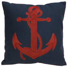Load image into Gallery viewer, Rusty Anchor Throw Pillow