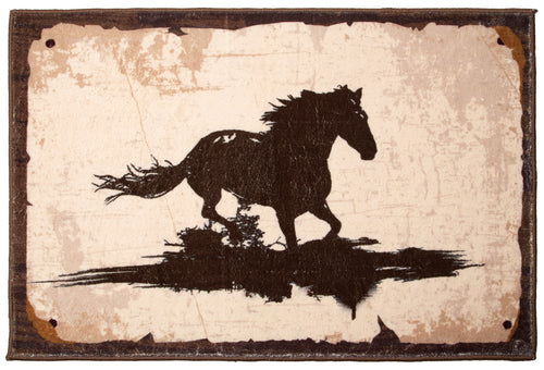 Running Horse Indoor Rug 2x3