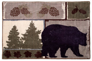 Vintage Bear Indoor Rug 2x3