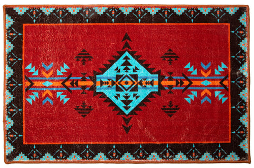 Red Southwestern Indoor Rug 2x3