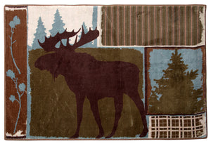 Vintage Moose Indoor Rug 2x3