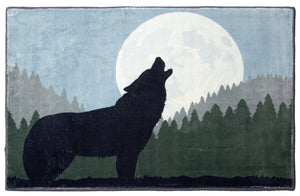 Howling Wolf Indoor Rug 2x3