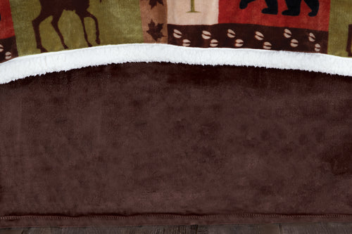 Patchwork Lodge Bed Skirt