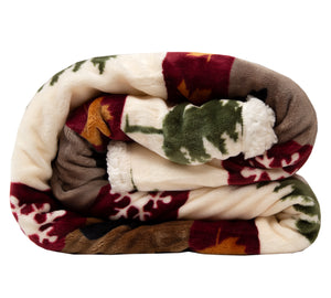 Tall Pine Plush Throw