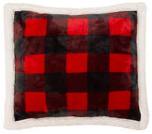 Load image into Gallery viewer, Red Lumberjack Plaid Pillow