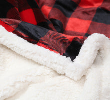 Load image into Gallery viewer, Lumberjack Plaid Sherpa Plush Throw (Red)