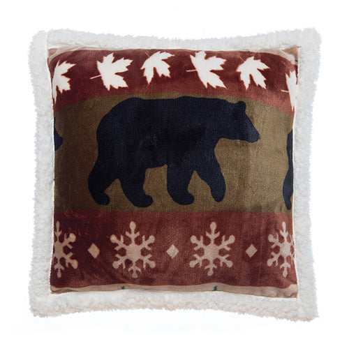Cascade Ridge Bear Pillow