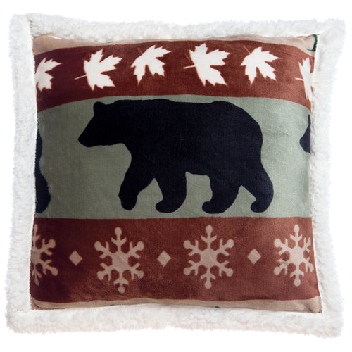 Mint Green Cascade Ridge Bear Pillow 18x18