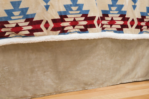 Blue River Bed Skirt