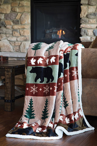 Cascade Ridge Extra Plush Sherpa Throw Blanket 54x68