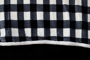 Black & White Lumberjack Plaid Bedding Set