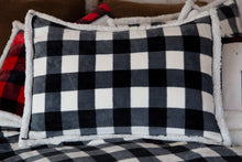 Load image into Gallery viewer, Black & White Lumberjack Plaid Bedding Set