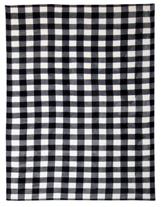 Black & White Lumberjack Curtain Panels