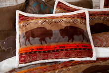 Load image into Gallery viewer, Roaming Bison Southwestern Bedding Set