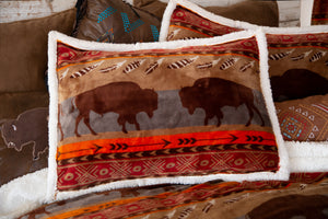 Roaming Bison Southwestern Bedding Set