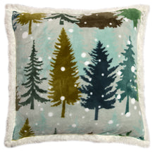Load image into Gallery viewer, Snowflake Sherpa Throw Pillow