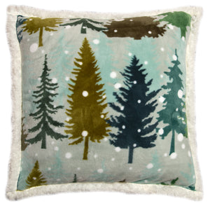 Snowflake Sherpa Throw Pillow