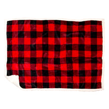 Load image into Gallery viewer, Lumberjack Red Plaid Dog Blanket
