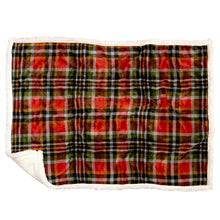 Load image into Gallery viewer, Rust and Sage Plaid Dog Blanket