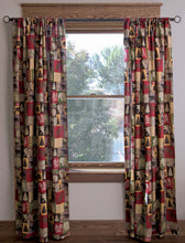 Load image into Gallery viewer, Cabin In The Woods Cotton Printed Lined Drape Set