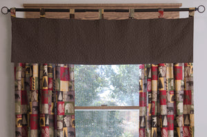 Cabin In The Woods Cotton Brown Quilt Valance