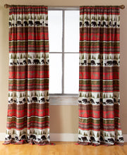 Load image into Gallery viewer, Cabin & Lodge Stripe Curtain Panels