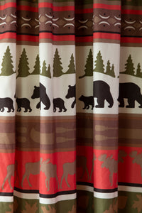 Cabin & Lodge Stripe Curtain Panels