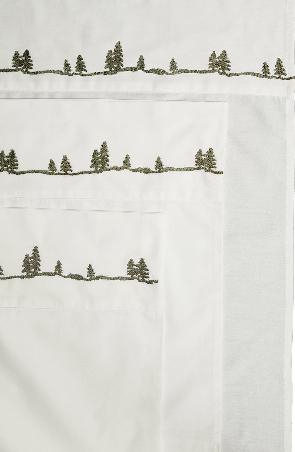 Embroidered Pines Sheet Set 100% Cotton