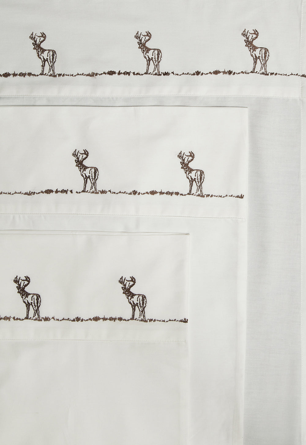 Embroidered Buck Sheet Set 100% Cotton