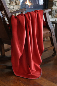 Red Suede Throw